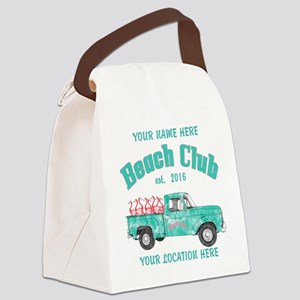 Flamingo Beach Club Canvas Lunch Bag