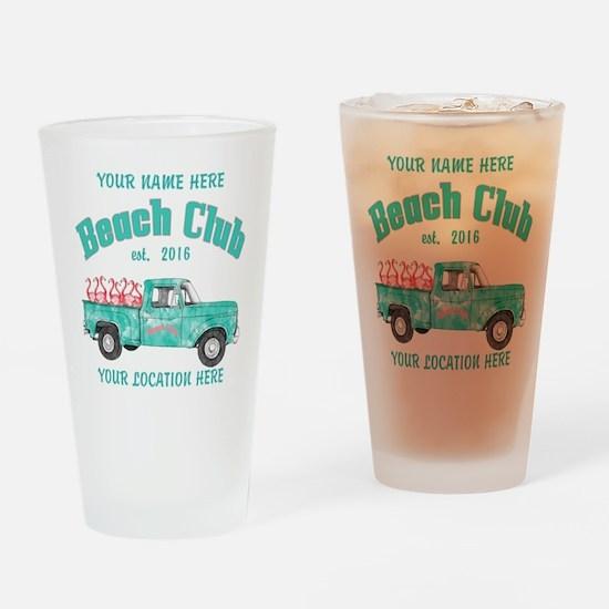 Flamingo Beach Club Drinking Glass