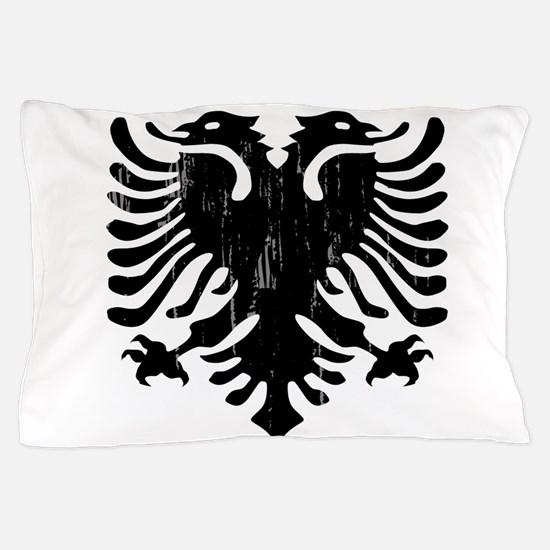 albania_eagle_distressed.png Pillow Case