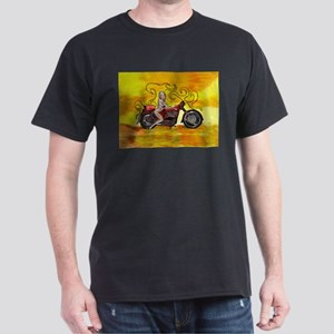 Pinup girl biker with Tattoo sign T-Shirt