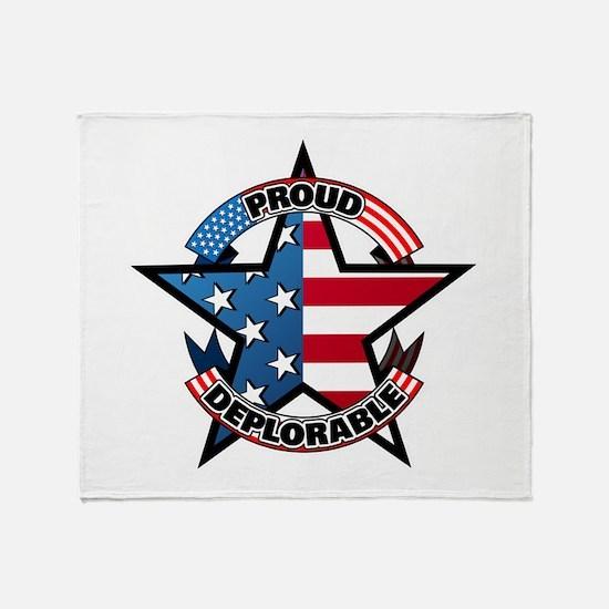 Proud Deplorable Throw Blanket