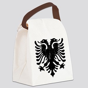 albania_eagle_distressed Canvas Lunch Bag