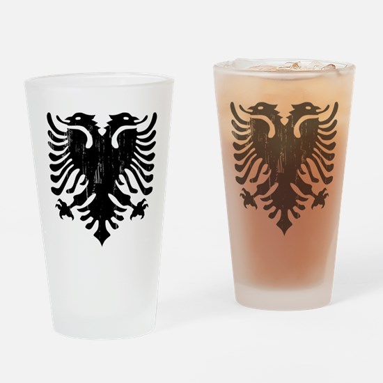 albania_eagle_distressed.png Drinking Glass