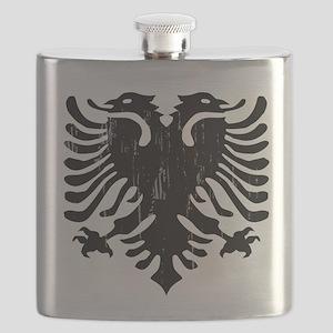 albania_eagle_distressed Flask