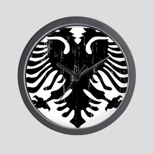 albania_eagle_distressed Wall Clock