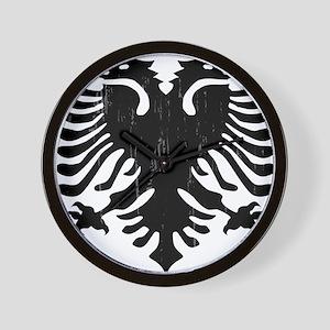 albania_eagle_distressed Wall Clock