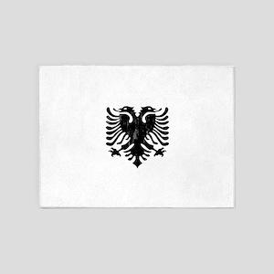 albania_eagle_distressed 5'x7'Area Rug