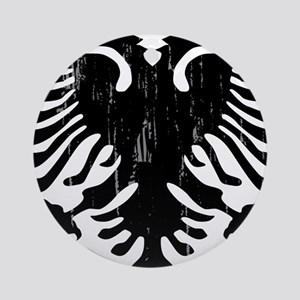 albania_eagle_distressed Round Ornament