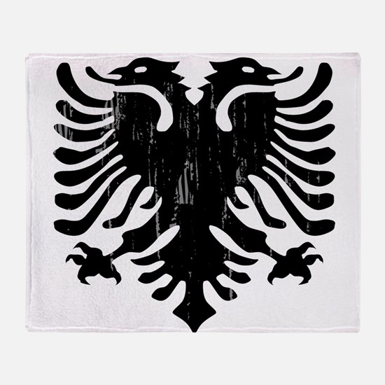 albania_eagle_distressed.png Throw Blanket