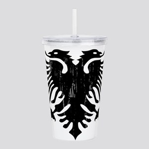 albania_eagle_distress Acrylic Double-wall Tumbler