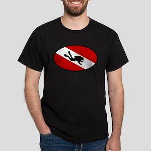 Diver Down Flag Diver Dark T-Shirt