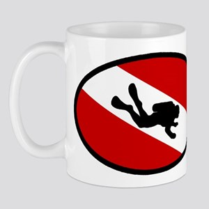 Diver Down Flag Diver Mug