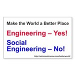 Yes-To-Engineering Sticker (rectangle 10 Pk)