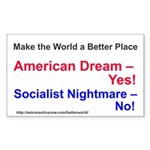 Yes-To-American-Dream Sticker (rectangle 10 Pk)
