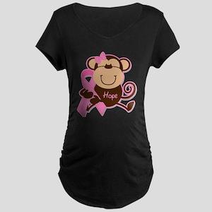 Monkey Cancer Hope Maternity T-Shirt