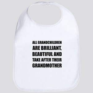 Grandchildren Brilliant Grandmother Bib