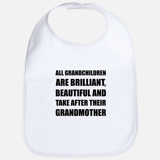 Grandchildren Brilliant Grandmother Bib