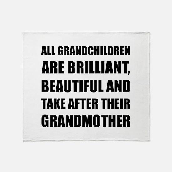 Grandchildren Brilliant Grandmother Throw Blanket