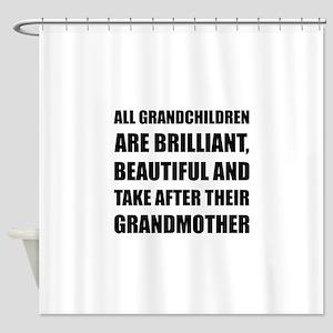 Grandchildren Brilliant Grandmother Shower Curtain
