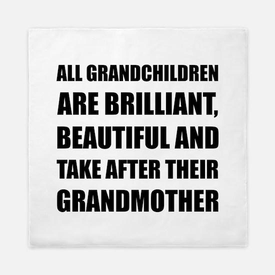 Grandchildren Brilliant Grandmother Queen Duvet