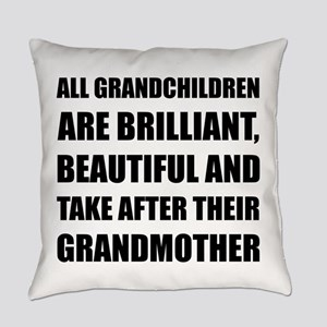 Grandchildren Brilliant Grandmothe Everyday Pillow