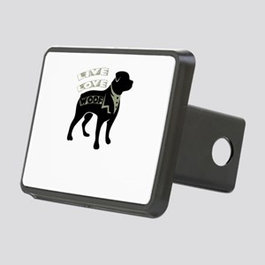 live love woof Rectangular Hitch Cover