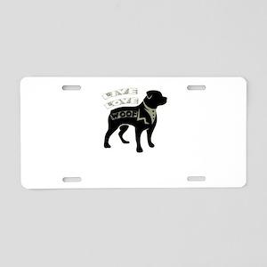 live love woof Aluminum License Plate