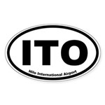 Hilo International Airport Oval Sticker