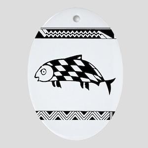 MIBRES FISH BLACK Oval Ornament