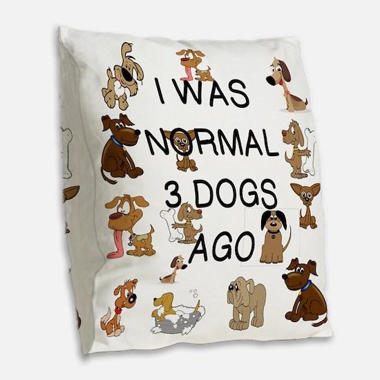 Funny Normal Burlap Throw Pillow