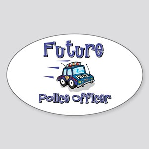 Future Policeman Oval Sticker
