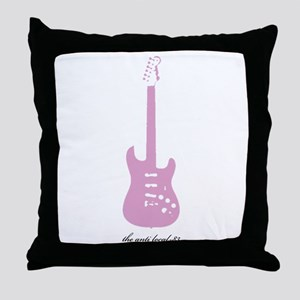 Anti Pink Guitar Throw Pillow