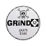 """Grind12 skateboard zine 3.5"""" Button"""