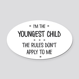 YOUNGEST CHILD 3 Oval Car Magnet