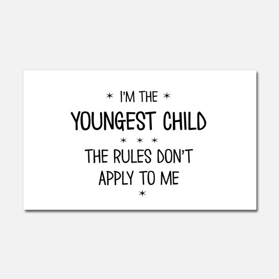YOUNGEST CHILD 3 Car Magnet 20 x 12