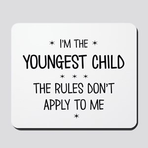 YOUNGEST CHILD 3 Mousepad