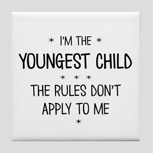 YOUNGEST CHILD 3 Tile Coaster
