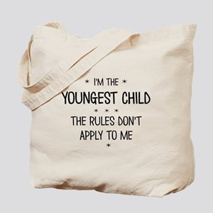 YOUNGEST CHILD 3 Tote Bag