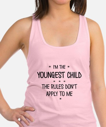 YOUNGEST CHILD 3 Racerback Tank Top