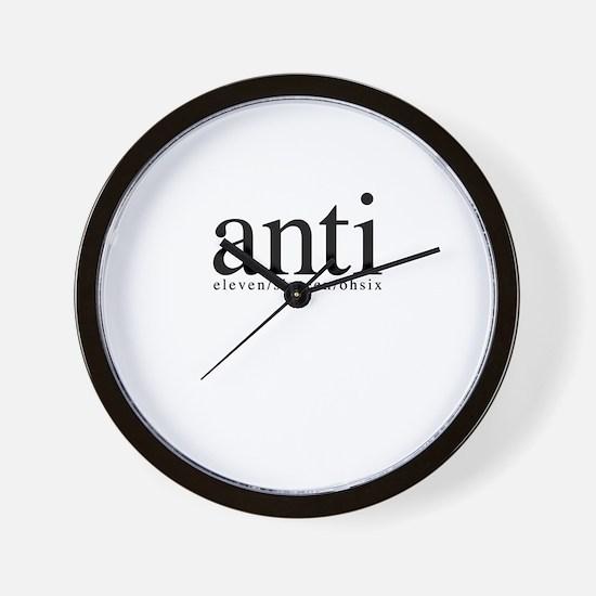 anti eleven/sixteen/ohsix Wall Clock