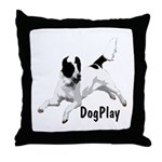 DogPlay Throw Pillow