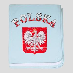 polska flag baby blanket