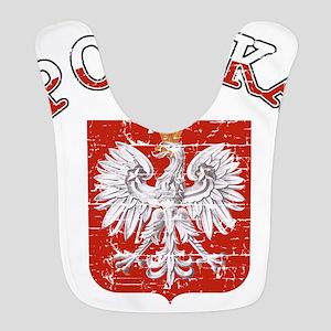 polska flag Polyester Baby Bib