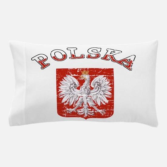 polska flag Pillow Case