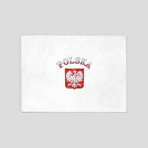 polska flag 5'x7'Area Rug