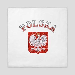 polska flag Queen Duvet