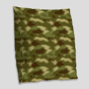 Camo 101 Burlap Throw Pillow