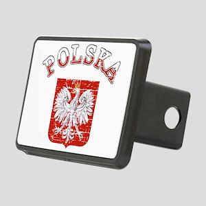 polska flag Rectangular Hitch Cover