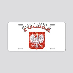 polska flag Aluminum License Plate