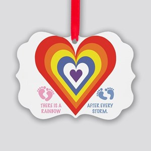 Rainbow Baby Picture Ornament